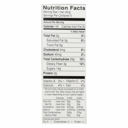Glutino Breakfast Bars - Blueberry - Case of 12 - 7.1 oz. Perspective: back