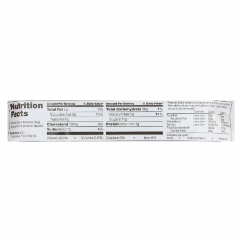 Glutino Chocolate Chip - Case of 12 - 8.6 oz. Perspective: back