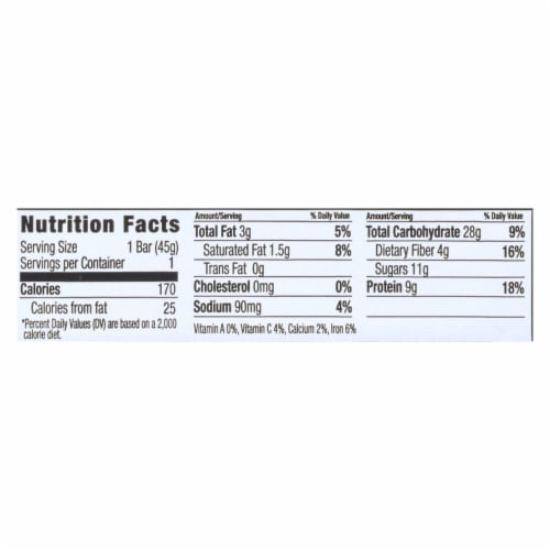 Nugo Nutrition Bar - Gluten Free Dark Chocolate Crunch - Case of 12 - 45 Grams Perspective: back