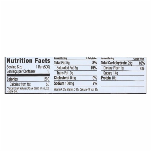 NuGo Nutrition Bar - Dark - Chocolate Chocolate Chip - 50 g - Case of 12 Perspective: back
