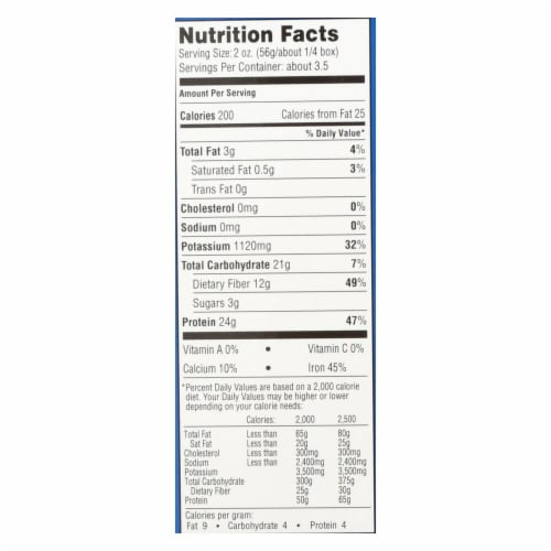 Seapoint Farms Edamame Fettuccine - Case of 12 - 7.5 oz. Perspective: back