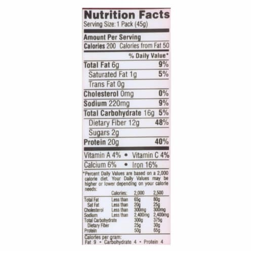 Seapoint Farms Edamame - Dry Roasted - Lightly Salted - 1.58 oz - Case of 12 Perspective: back