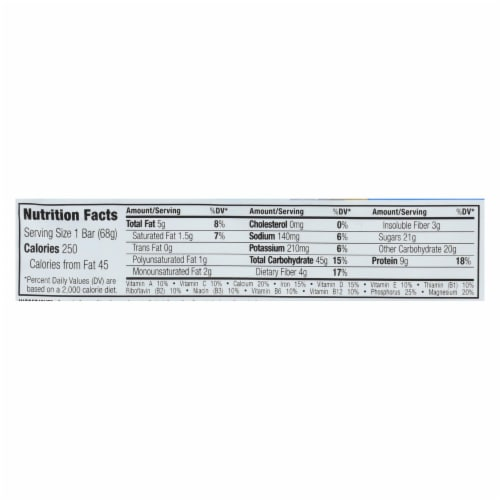 Clif Bar - Organic Chocolate Chip - Case of 12 - 2.4 oz Perspective: back