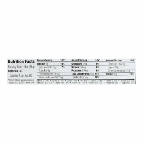 Clif Bar - Organic Peanut Toffee Buzz - Case of 12 - 2.4 oz Perspective: back