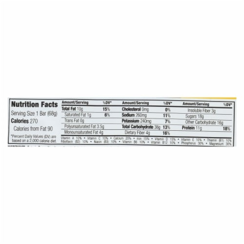 Clif Bar - Nuts & Seeds - Almonds Peanuts Pumpkin Seed - Case of 12 - 2.4 oz Perspective: back