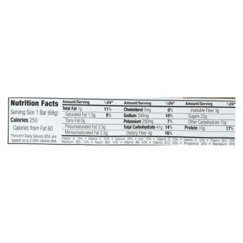 Clif Bar - Sierra Trail Mix - Case of 12 - 2.4 oz Perspective: back