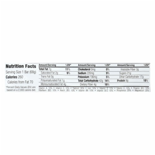Clif Bar - Organic White Chocolate Macadamia Nut - Case of 12 - 2.4 oz Perspective: back