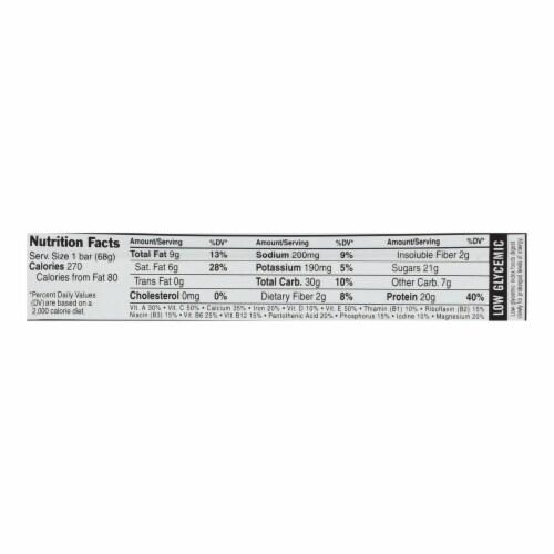 Clif Bar Builder Bar - Chocolate - Case of 12 - 2.4 oz Perspective: back