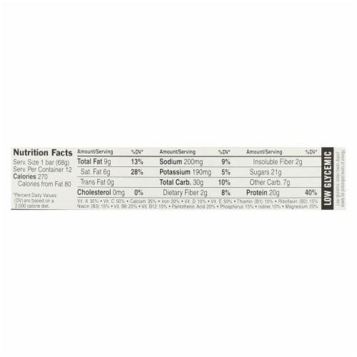 Clif Bar Builder Bar - Chocolate Mint - Case of 12 - 2.4 oz Perspective: back