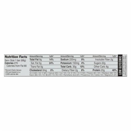 Clif Bar Builder Bar - Vanilla Almond - Case of 12 - 2.4 oz Perspective: back