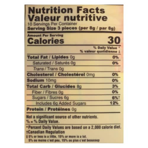 Ginger People - Gin Gins Hard Ginger Candy - Double Strength - Case of 12 - 3 oz. Perspective: back