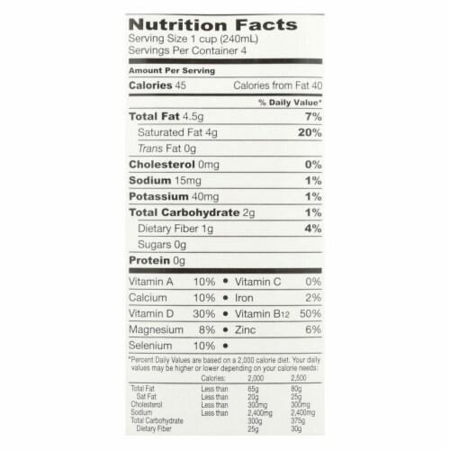 So Delicious Coconut Milk Beverage - Unsweetened - Case of 12 - 32 Fl oz. Perspective: back