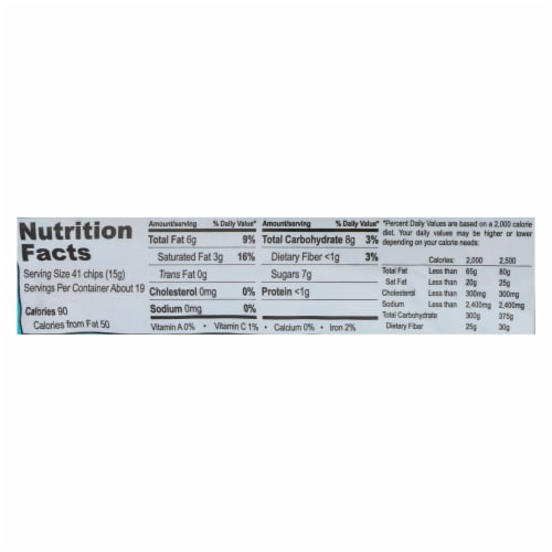 Equal Exchange Organic Chocolate Chips - Semi-Sweet - Case of 12 - 10 oz. Perspective: back