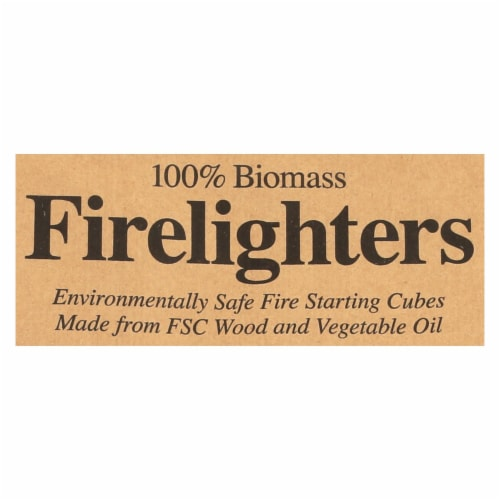 If You Care Wood Starting Cubes - Firelighters - Case of 12 - 72 Count Perspective: back