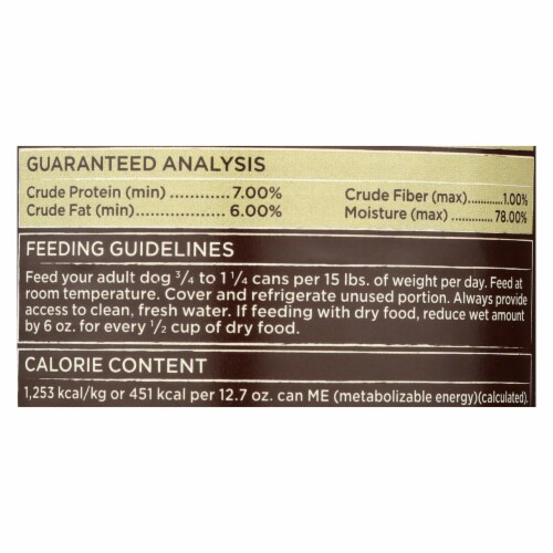 Castor and Pollux Organic Dog Food - Chicken and Potatoes - Case of 12 - 12.7 oz. Perspective: back