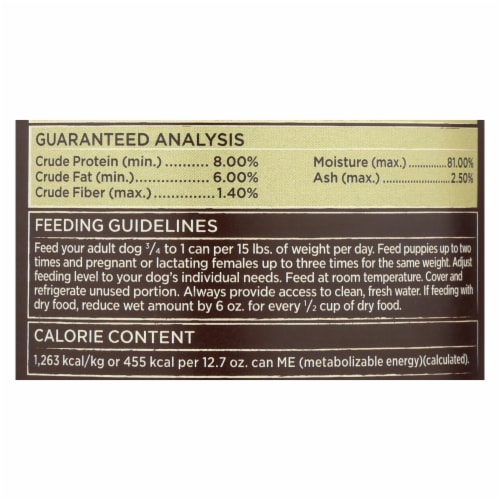 Castor & Pollux - Dog Fd Can Green Fr Bf Pea - Case of 12 - 12.70 OZ Perspective: back