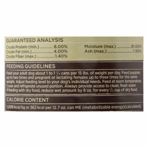 Castor & Pollux Dog Food, Prstine Grain-Free-Range Chicken,Pea,Carrot Stew -12Case-12.7oz Perspective: back
