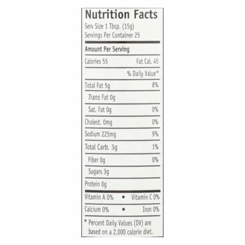 Garlic Expressions Salad Dressing - Vinaigrete - Case of 12 - 12.5 oz Perspective: back