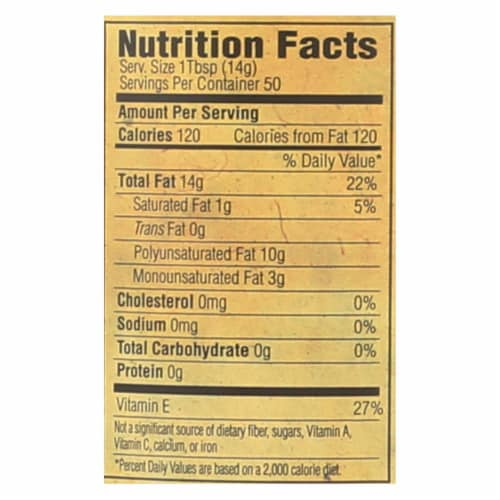 Napa Valley Naturals Grapeseed Oil - Case of 12 - 25.4 Fl oz. Perspective: back