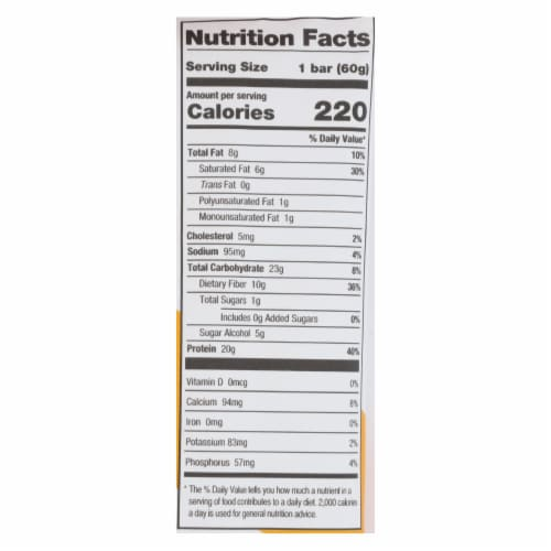 One Brands Protein Bar Maple Glazed Doughnut  - Case of 12 - 60 GRM Perspective: back