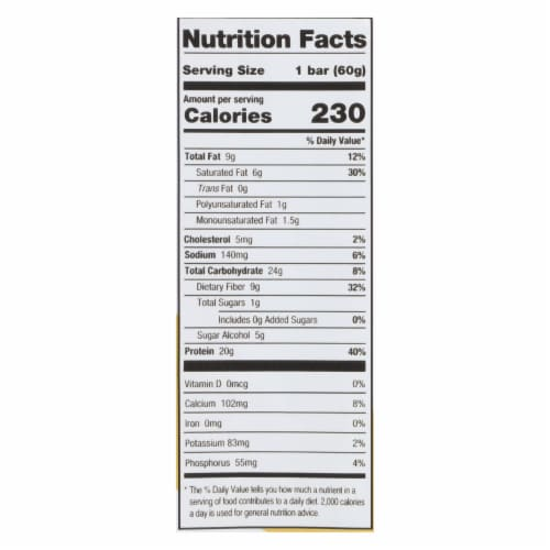 One Cinnamon Roll Protein Bar  - Case of 12 - 60 GRM Perspective: back
