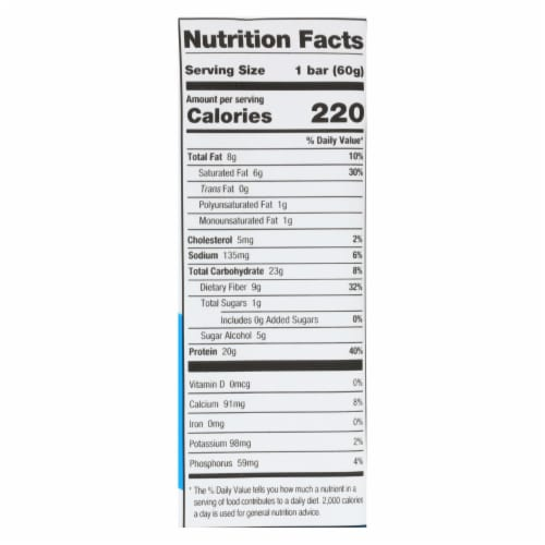 One Brands Protein Bar - Case of 12 - 60 GRM Perspective: back