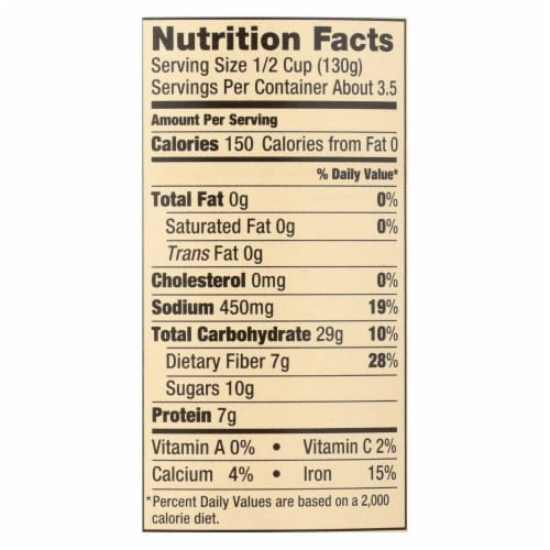 Walnut Acres Organic Baked Beans - Case of 12 - 15 oz. Perspective: back