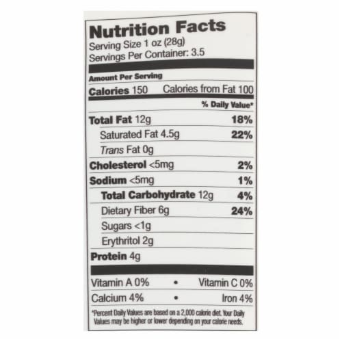 Lily's Sweets - Cvrd Peanut Milk Chocolate Stevia - Case of 12 - 3.5 OZ Perspective: back