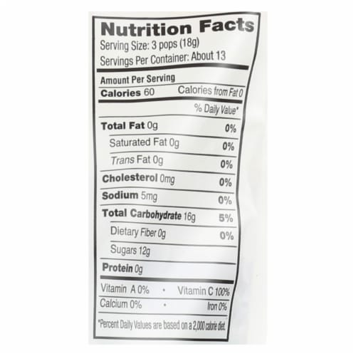 Yummy Earth Organics Lollipops - Organic Pops - 40 Plus - Assorted - 8.5 oz - Case of 12 Perspective: back