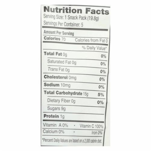Yumearth Organics Organic Gummy Bear - Snack - Case of 12 - 0.7 oz. Perspective: back
