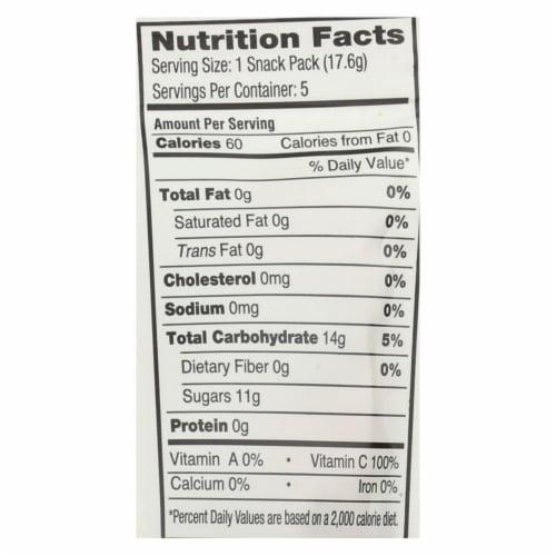 Yumearth Organics Organic - Raspberry - Pineapple - Mango - Case of 12 - 3.1 oz. Perspective: back