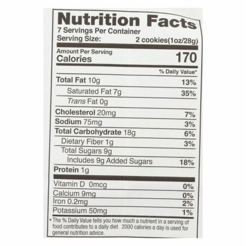 Tate's Bake Shop Gluten Free Coconut Crisp Cookies  - Case of 12 - 7 OZ Perspective: back
