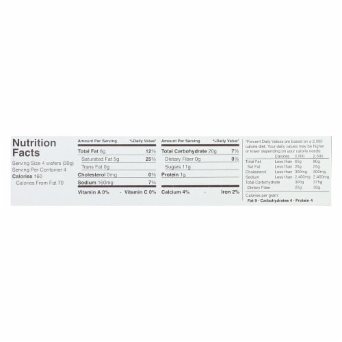 Schar Vanilla Wafers Gluten Free - Case of 12 - 4.4 oz. Perspective: back