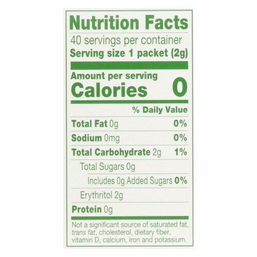 Truvia - Sweetener Natural - Case of 12 - 40 CT Perspective: back