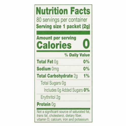 Truvia - Sweetener Natural - Case of 12 - 80 CT Perspective: back