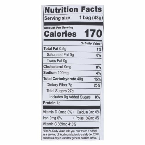 Natierra Fruit - Organic - Freeze Dried - Apples - 1.5 oz - case of 12 Perspective: back