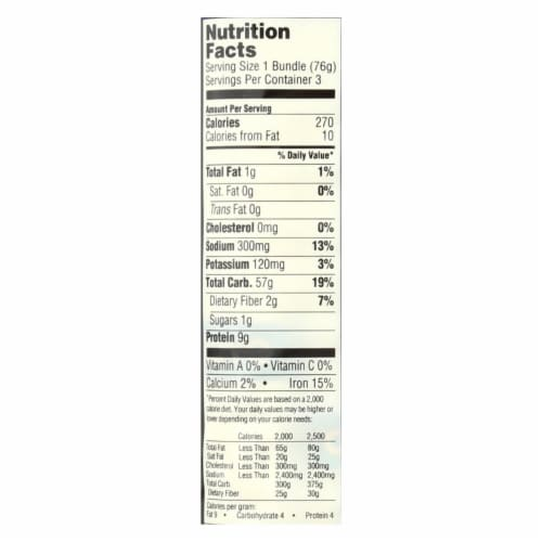 Koyo Organic Wide Udon Noodles - Case of 12 - 8 OZ Perspective: back