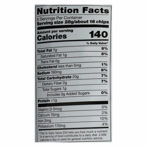 Cassava Crunch Plant Snacks, Beef With Goat Cheese  - Case of 12 - 5 OZ Perspective: back
