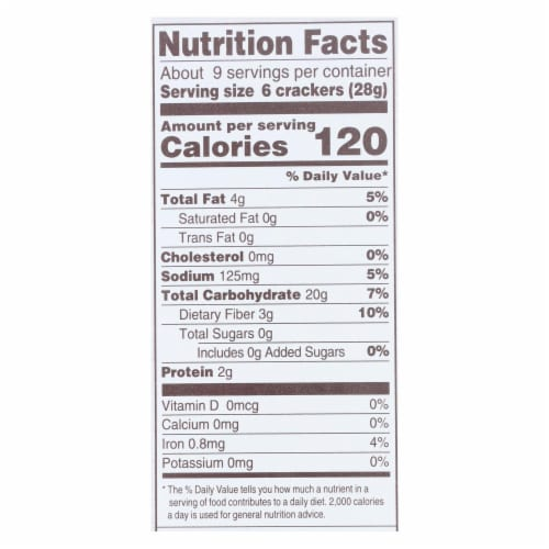 Back To Nature - Crackers Rsmry&olive Oil - Case of 12 - 8.5 OZ Perspective: back