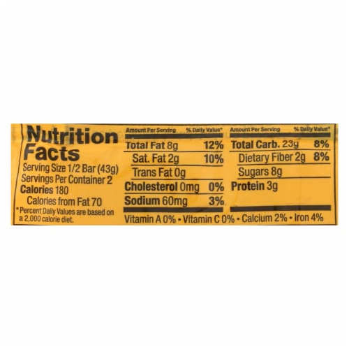 Bobo's Oat Bars - All Natural - Peanut Butter - 3 oz Bars - Case of 12 Perspective: back