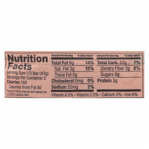 Bobo's Oat Bars - All Natural - Gluten Free - Chocolate Almond - 3 oz Bars - Case of 12 Perspective: back