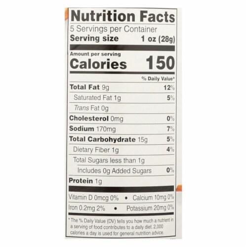 Sensible Portions Sea Salt & Vinegar Garden Veggie Chips  - Case of 12 - 5 OZ Perspective: back