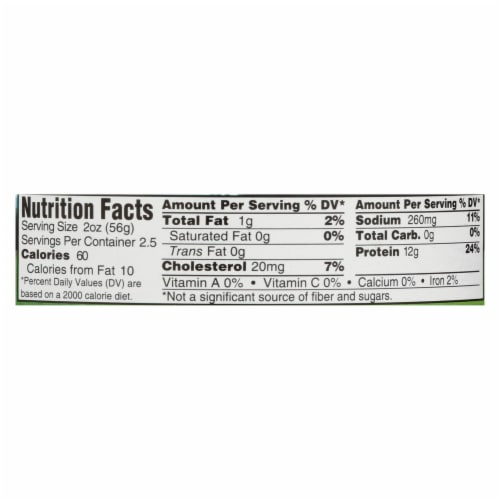 Wild Planet Organic Canned Chicken Breast - Roasted - Case of 12 - 5 oz Perspective: back