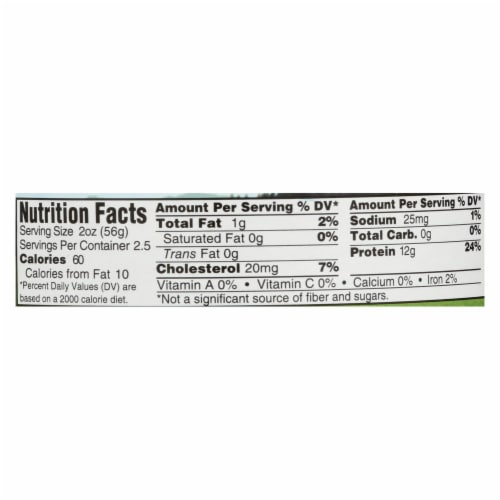 Wild Planet Organic Roasted Chicken Breast - No Salt Added - Case of 12 - 5 oz. Perspective: back