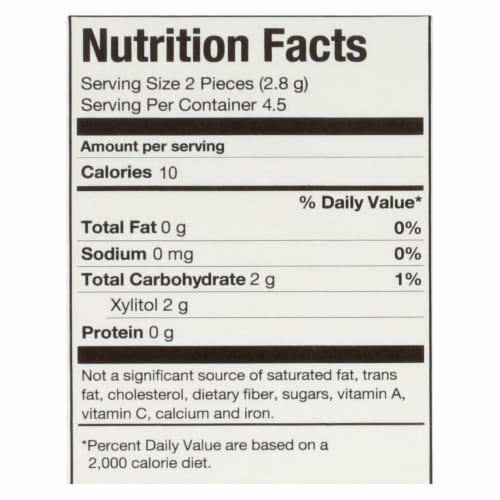 Pur Gum - Pomegranate Mint - Aspartame Free - 9 Pieces - 12.6 g - Case of 12 Perspective: back