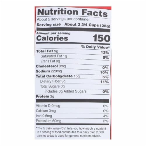 Popcorn Indiana Popcorn - Sea Salt - Case of 12 - 4.75 oz. Perspective: back