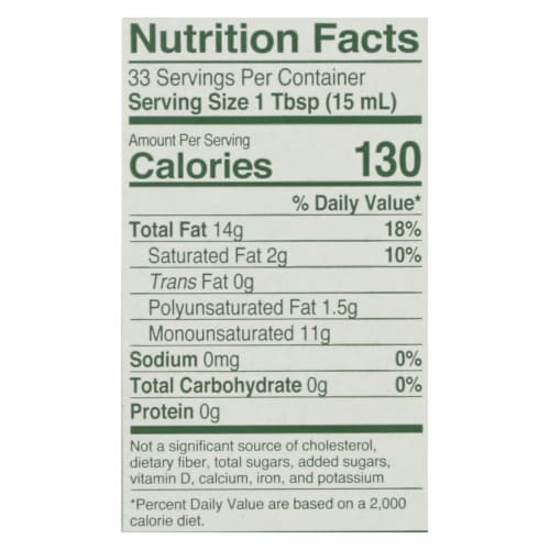 California Olive Ranch Extra Virgin Olive Oil - Everyday - Case of 12 - 16.9 fl oz. Perspective: back