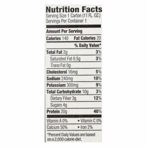 Orgain Organic Protein Shakes - Creamy Chocolate Fudge - Case of 12 - 11 Fl oz. Perspective: back