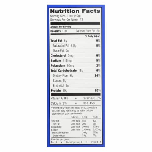 Our Organic Protein Bars  - Case of 12 - 1.41 OZ Perspective: back