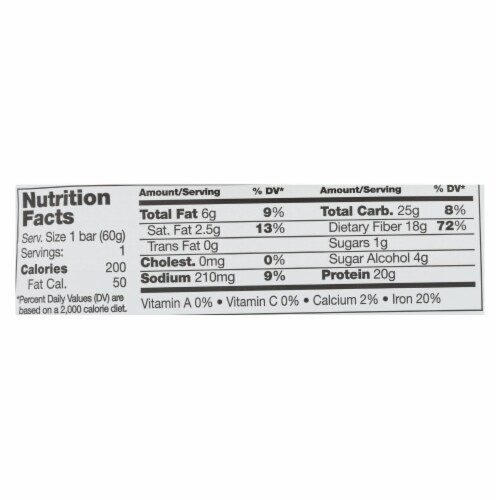 No Cow Bar Mint Cacao Chip Bar - Case of 12 - 2.12 OZ Perspective: back